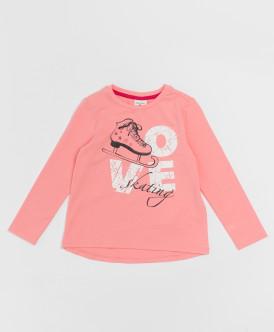 Розовая футболка с длинным рукавом Button Blue