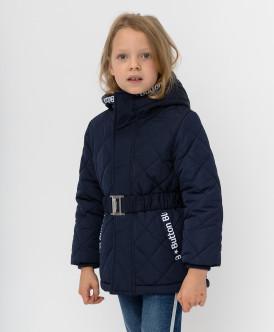 Купить 220BBGMC41021000, Темно-синяя демисезонная куртка Button Blue, синий, 110, Девочки