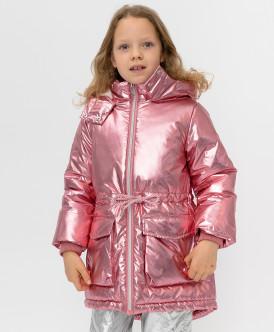 Купить 220BBGMC45011200, Розовое демисезонное пальто Button Blue, розовый, 104, Девочки