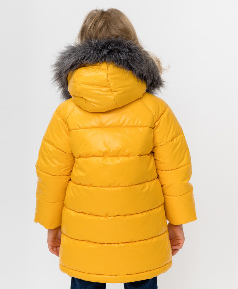 Желтое зимнее пальто Button Blue
