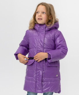 пальто button blue для девочки, сиреневое