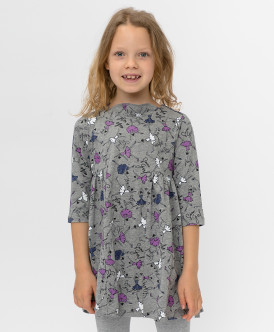 платье button blue для девочки, серое