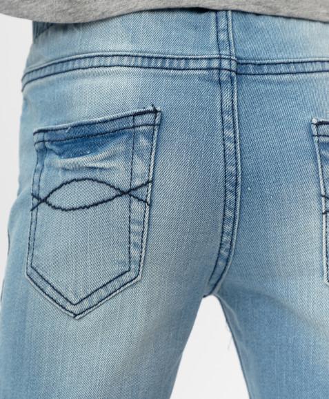 Голубые джинсы скинни Button Blue