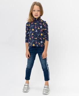 Купить 220BBGMC6303D500, Темно-синие джинсы скинни Button Blue, синий, 110, Девочки