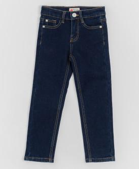 Темно-синие джинсы, бондированные флисом Button Blue