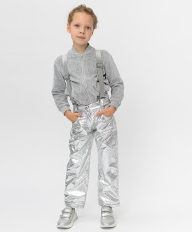 Утепленные серые брюки Button Blue