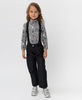 Утепленные черные брюки Button Blue