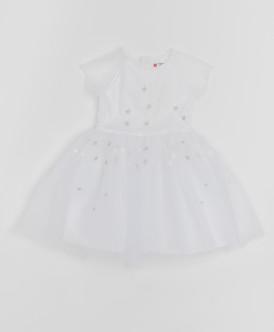 Белое платье с сеткой