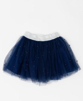 Синяя юбка с сеткой Button Blue