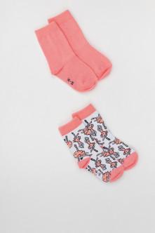 Купить 220BBGMU85011213, Комплект носков, 2 пары Button Blue, розовый, 16-18, Девочки