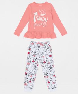 пижама button blue для девочки, розовая