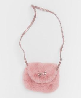Розовая сумка из искусственного меха