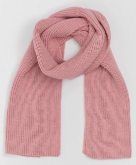Розовый вязаный шарф Button Blue