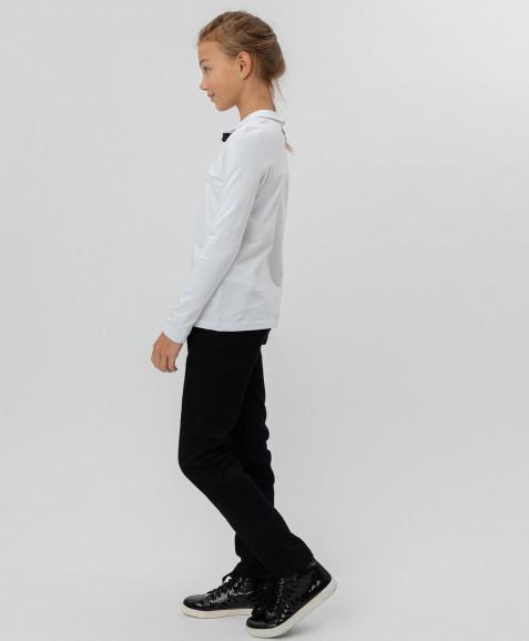 Белая футболка с пристегивающимся бантом