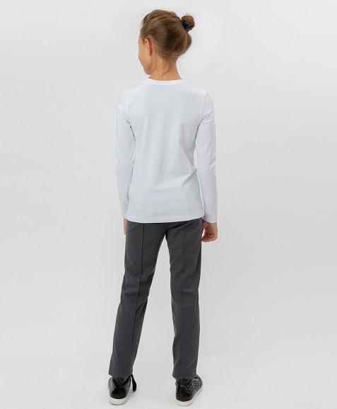 Белая футболка с глиттерным принтом