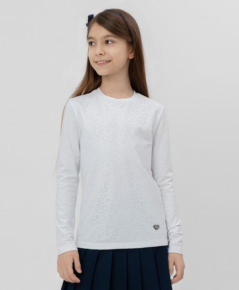 Белая футболка с кружевом Button Blue