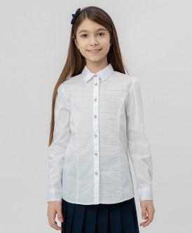 Белая рубашка с пуговицами-стразами