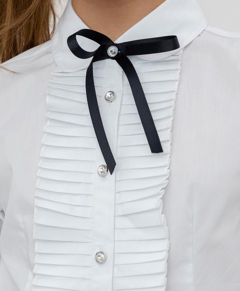 Белая рубашка с бантом