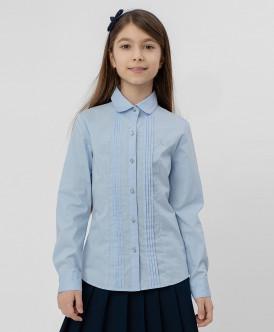 рубашка button blue для девочки, голубая