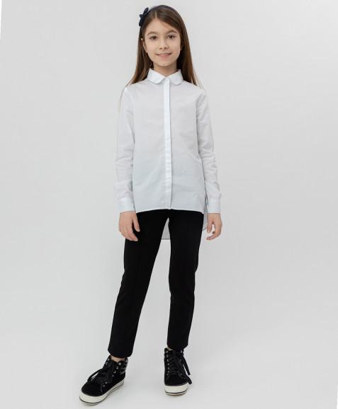 Белая рубашка с удлиненной спинкой