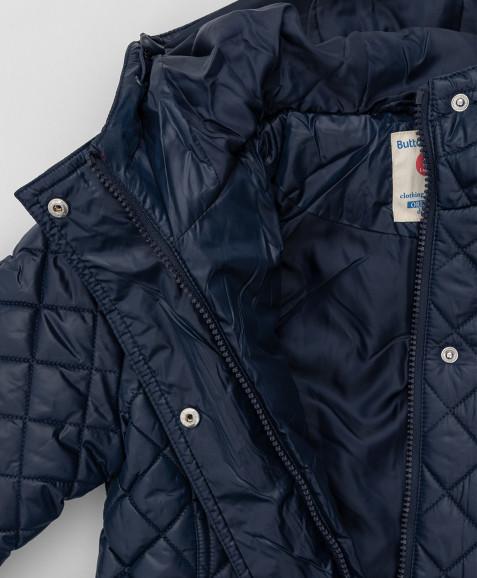 Синее пальто Button Blue