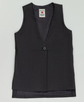 Серый удлиненный жилет Button Blue