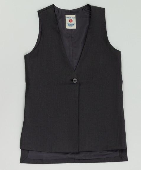 Серый удлиненный жилет