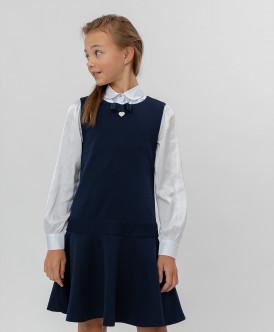 Синее трикотажное платье 220BBGS50021000 фото