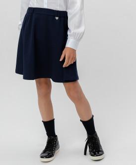 Синяя юбка на резинке