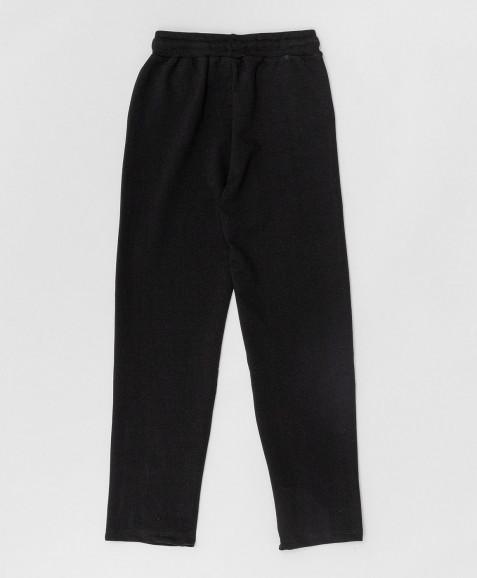 Черные брюки из футера