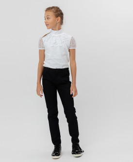 брюки button blue для девочки, черные