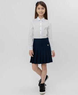 Купить 220BBGS61011000, Синяя плиссированная юбка Button Blue, синий, 146, Девочки