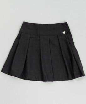 Серая юбка в складку