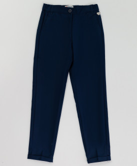 Синие брюки с манжетом 220BBGS63011000 фото