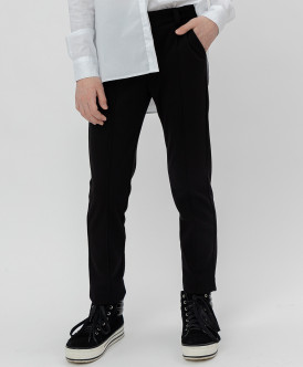 Черные твиловые брюки Button Blue