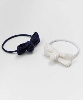 Резинки для волос, 2 шт. Button Blue