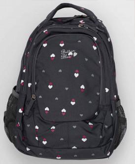 рюкзак button blue для девочки, черный