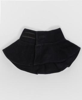 Черный флисовый воротник Button Blue