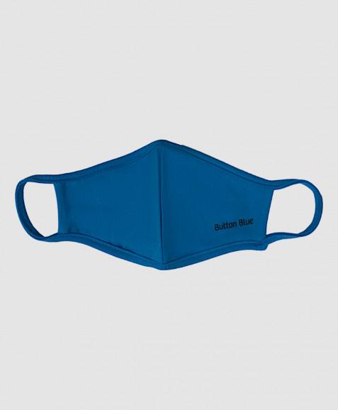 Синяя многоразовая защитная маска Button Blue